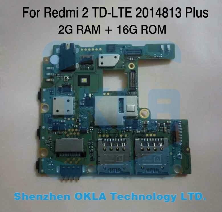 bilder für 1 stücke Verwendet 2014813 Plus TD-LTE 2G RAM 16G ROM Motherboard für xiaomi redmi 2 Hongmi 2 Redmi2 Mainboard Hauptplatine systemplatine