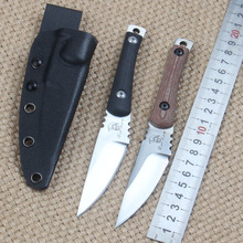 Mikata+ Steel Handle 60Hrc D2 Steel Blade Knife Hunting Survival Knife Camping Knives With K Sheath Outdoor Tool EDC Tools
