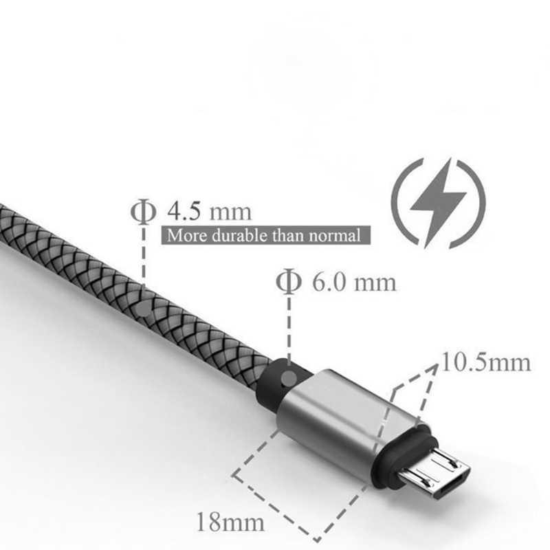 شاحن USB صغير سرعة عالية 2.0 مزامنة شحن مضفر الحبل ل أندرويد شاومي Redmi نوت 6 برو 5 زائد 4X 4 3 أوقد Xbox PS4