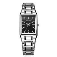 BINLUN relógio de Quartzo Relógio de Vestido dos homens Black White Dial Retângulo de Aço Inoxidável Relógios À Prova D' Água para Os Homens