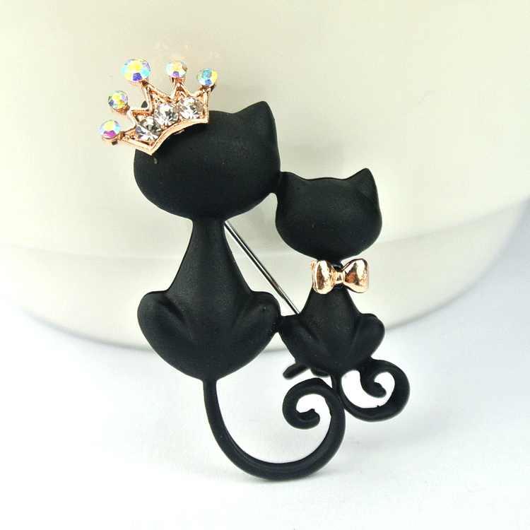 Misterioso ed elegante gatto nero spilla orna black cat maglione spilla accessori