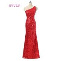 Hồng 2018 Prom Dresses Vỏ One-vai Sequins Sparkle Beaded Xem Qua Phụ Nữ Dài Prom Gown Evening Dresses Robe De Soiree
