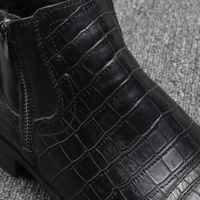 Chaussures Noir Hommes Da150 Véritable Automne Bottes Nouveau Cuir Hiver En YYCwqr