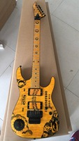 Wholesale New Arrival Espkh Series Electric Guitar One Piece Neck Star+Moon Inaly Signature In Yellow 180928