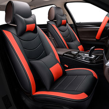 WLMWL Universal Leather Car Seat Cover For Honda All Models CRV XRV Odyssey City Crosstour Civic