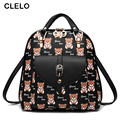 CLELO 2017 new women backpack for Girls Backpack Women Student Bags Preppy Style Casual Color high quality travel backpacks