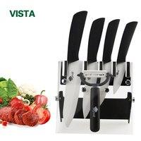 Ceramic Knife Kitchen Knife 3 4 5 6 Inch Holder Peeler Set Chef Fruit Zirconia White