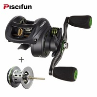 Piscifun Phantom Spool Carbon Fiber Ultralight 162g Baitcasting Reel Dual Brake 7 7kg Max Drag 7