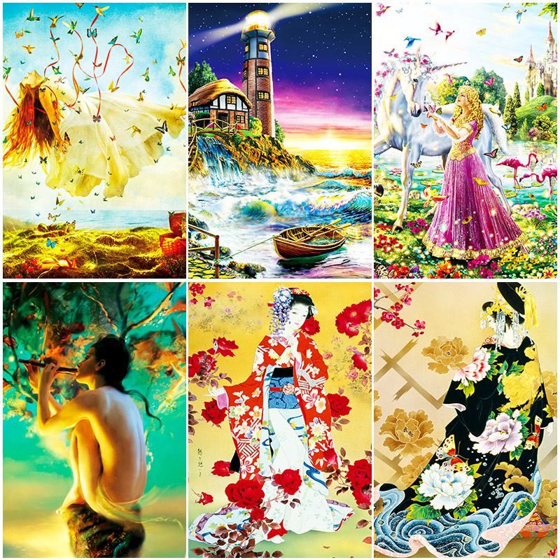 1000 pieces of jigsaw puzzle adult puzzle toy men / Girls illustrations of landscape decompression creative new year gifts puzzle 1000 горный бык 29745