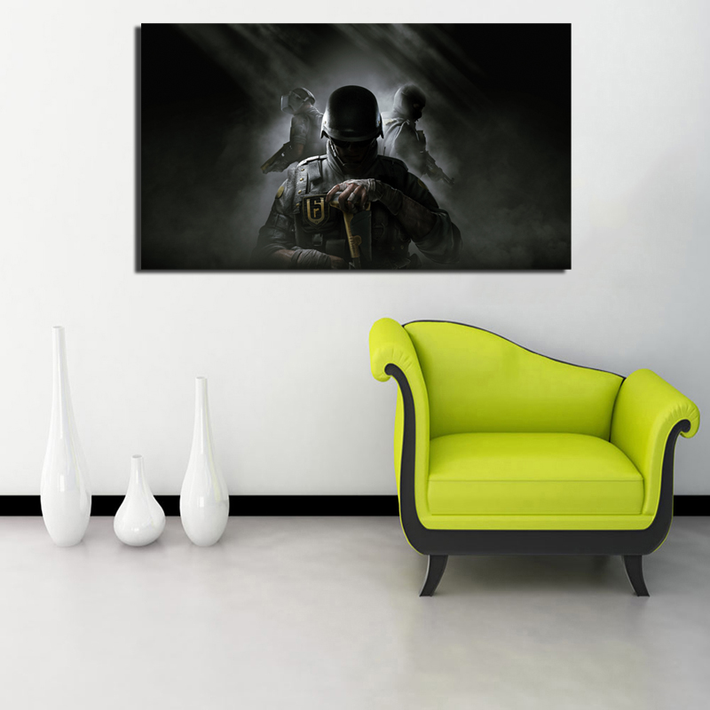 Rainbow Six Siege Year 4 Canvas Painting Prints Bedroom Home Decoration Artworks Modern Wall Art Oil Painting Posters Pictures in Painting Calligraphy from Home Garden
