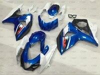 GSXR 1000 2014 Abs Fairing GSXR 1000 2009 2015 K9 Blue White Body Kits GSXR1000 11 12 Plastic Fairings