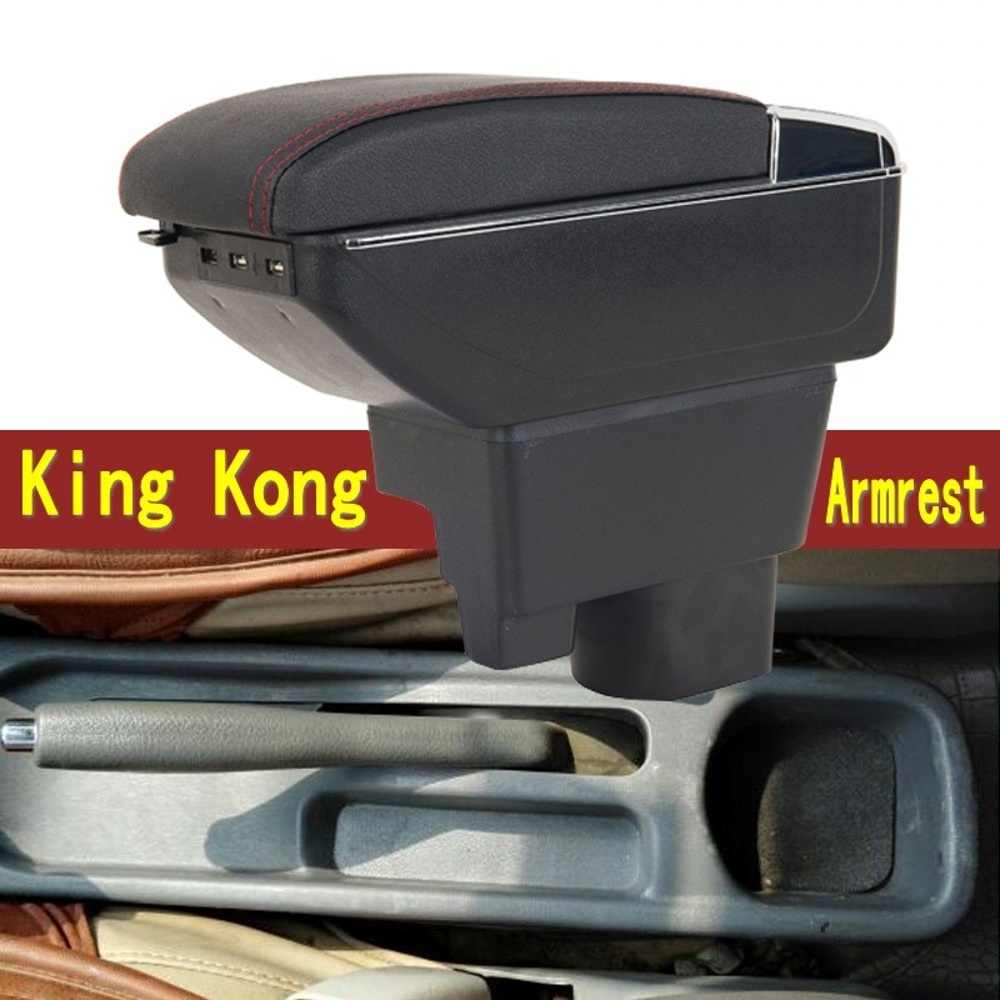 Center Centre Console Storage Box For Geely MK 2008-2013 Armrest Arm Rest Rotatable 2009 2010 2011 2012