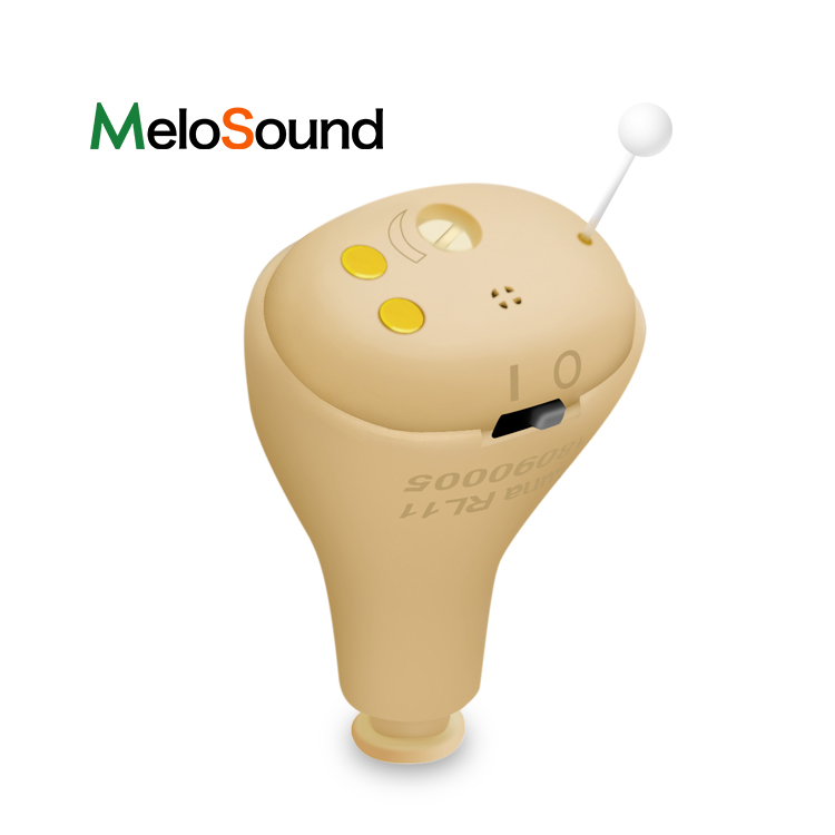 MeloSound Hearing aids Rechargeable CIC Digital Mini Hearing Aid Invisible Hearing Aids Sound Amplifier