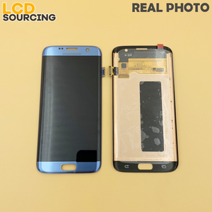 Image 2 - AMOLED Big Red Burn Shadow LCD Display For Samsung Galaxy S7 Edge G935 G935F G935FD Touch Screen Digitizer Assembly with Frame