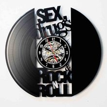 Home Decpration Sex Position Modern Design Clock  Black Vinyl LP Record Wall Clock Hanging Watches Christmas Gifts
