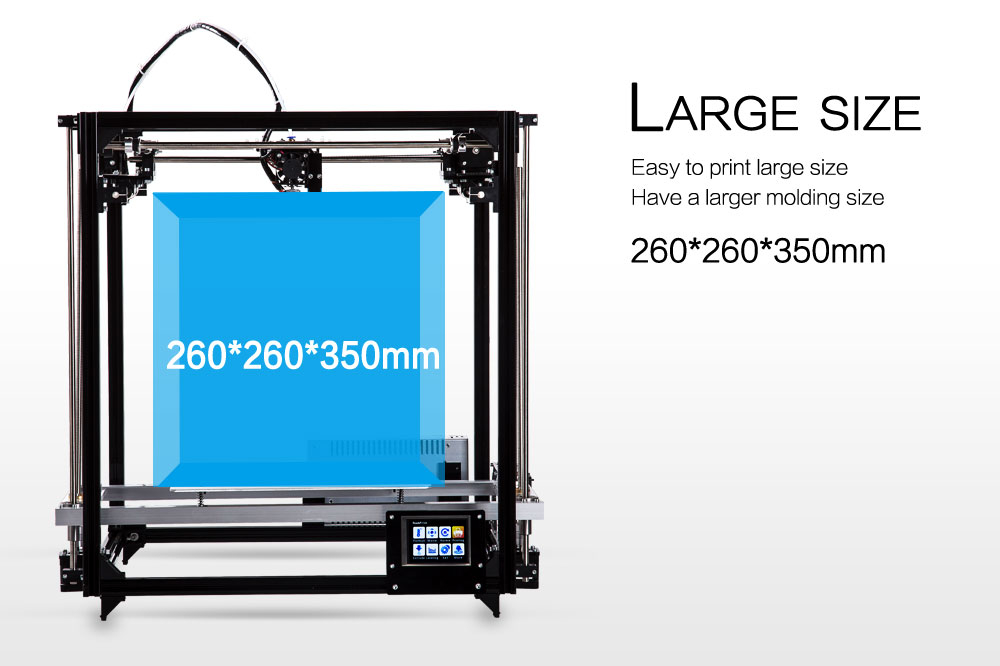 FLSUN 3D Printer with Large Metal Frame and Dual Extruder 1