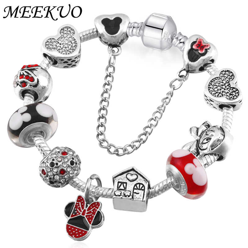 d3a8f6619 Handmade Cute Children Mickey Charms Europe and United States Gift for Women  Kids Girl DIY Murano