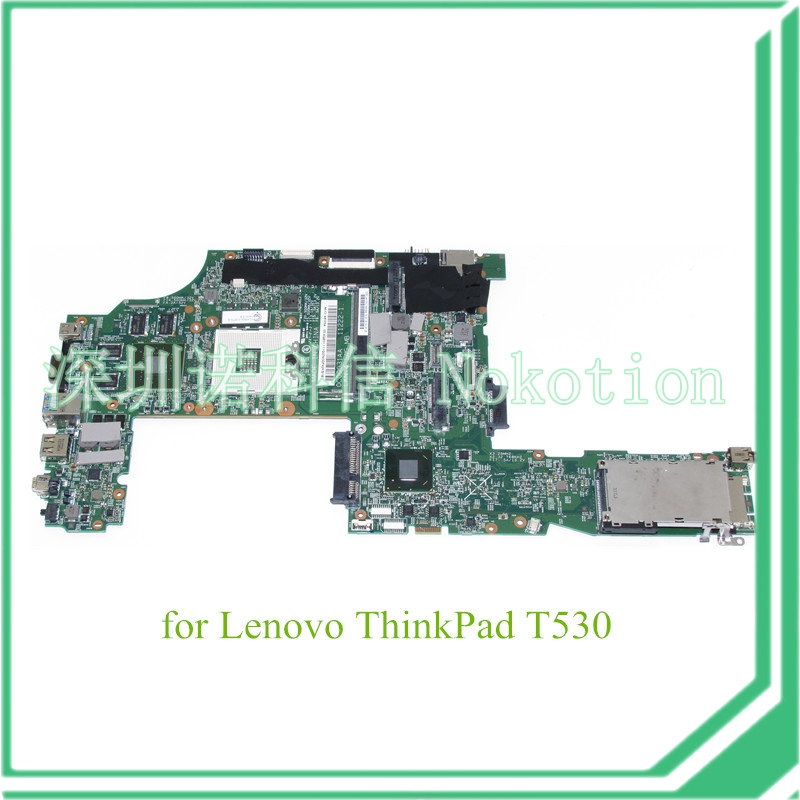 NOKOTION FRU 04W6824 For lenovo thinkpad T530 laptop motherboard NVS 5400M graphics QM77 DDR3 nokotion fru 63y1878 48 4cu06 031 laptop motherboard for lenovo thinkpad t510 qm57 quadro nvs 3100m board mainboard