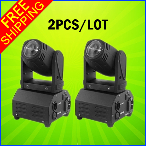 2PCS A Lot 10W Mini LED Moving Head Beam Light DMX DJ Euipments For Stage Party Light High Quality Disco Effect Light 10w mini led beam moving head light led spot beam dj disco lighting christmas party light rgbw dmx stage light effect chandelier