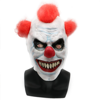 Halloween Horror Clown Masks Men Joker Cosplay Latex Masks Film Prop Costume Red Hair Ball Masks From Games