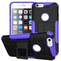 Lux 2 In 1 Heavy Duty Strong Rugged Armor Tire Style Hybrid TPU PC Hard Stand Bracket Case For iPhone 7 Plus