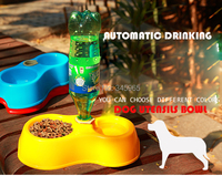 Free Shipping High Quality Dual Port Dog Utensils Bowl Cat Drinking Fountain Food Dish Pet Bowl