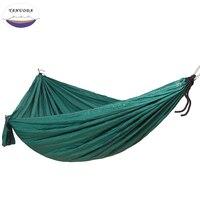 Hoge Sterkte Draagbare Camping Hangmat Draagbare Parachute Nylon Reizen Ultralight Camping Dubbele Brede Outdoor Reizen