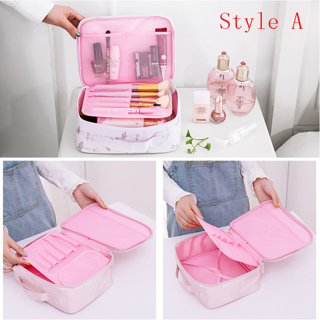Brand organizer travel fashion lady cosmetics cosmetic bag beautician storage bags large capacity Women makeup bag H127 4