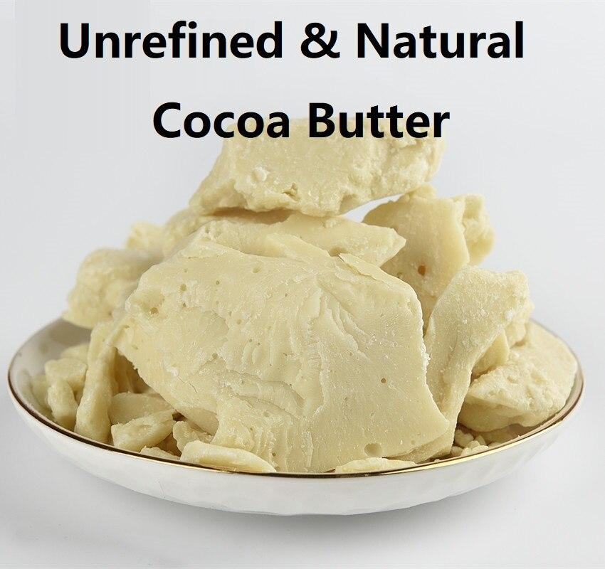 50g Cosmetics Pure Cocoa Butter  Raw Unrefined Cocoa Butter Base Oil Natural ORGANIC  food grade