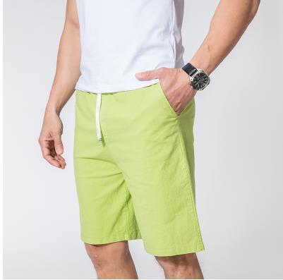 Мужские летние плюс Размеры эластичный пояс середине Повседневное Капри прямого кроя человек дышащий Лен свободные штаны Для мужчин более Размеры d обтягивающие брюки - Цвет: 6