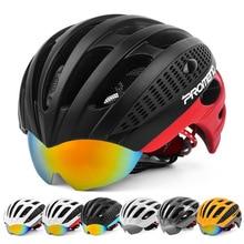 PROMEND Cycling Goggles Helmet Ultralight Integrally-molded Bicycle Helmet 3 Lens MTB Bike Helmet 27 Vents 285g Casco Ciclismo