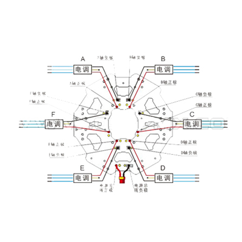 tarot 680pro folding hexacopter center plate kit tl68p01 central rh aliexpress com 3-Way Switch Wiring Diagram Wiring Diagram Symbols