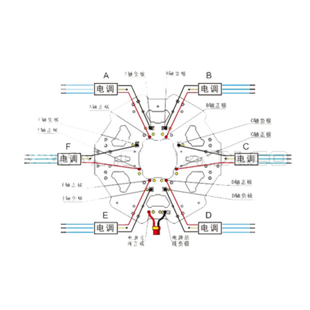 online shop tarot 680pro folding hexacopter center plate kit tl68p01 rh m aliexpress com Residential Electrical Wiring Diagrams Basic Electrical Wiring Diagrams