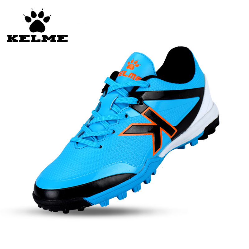KELME Smooth Training Soccer Boots Kid Children Shoe Sport PU Broken Nail Outdoor Running Sneakers Zapatos De Futbol 49 kelme