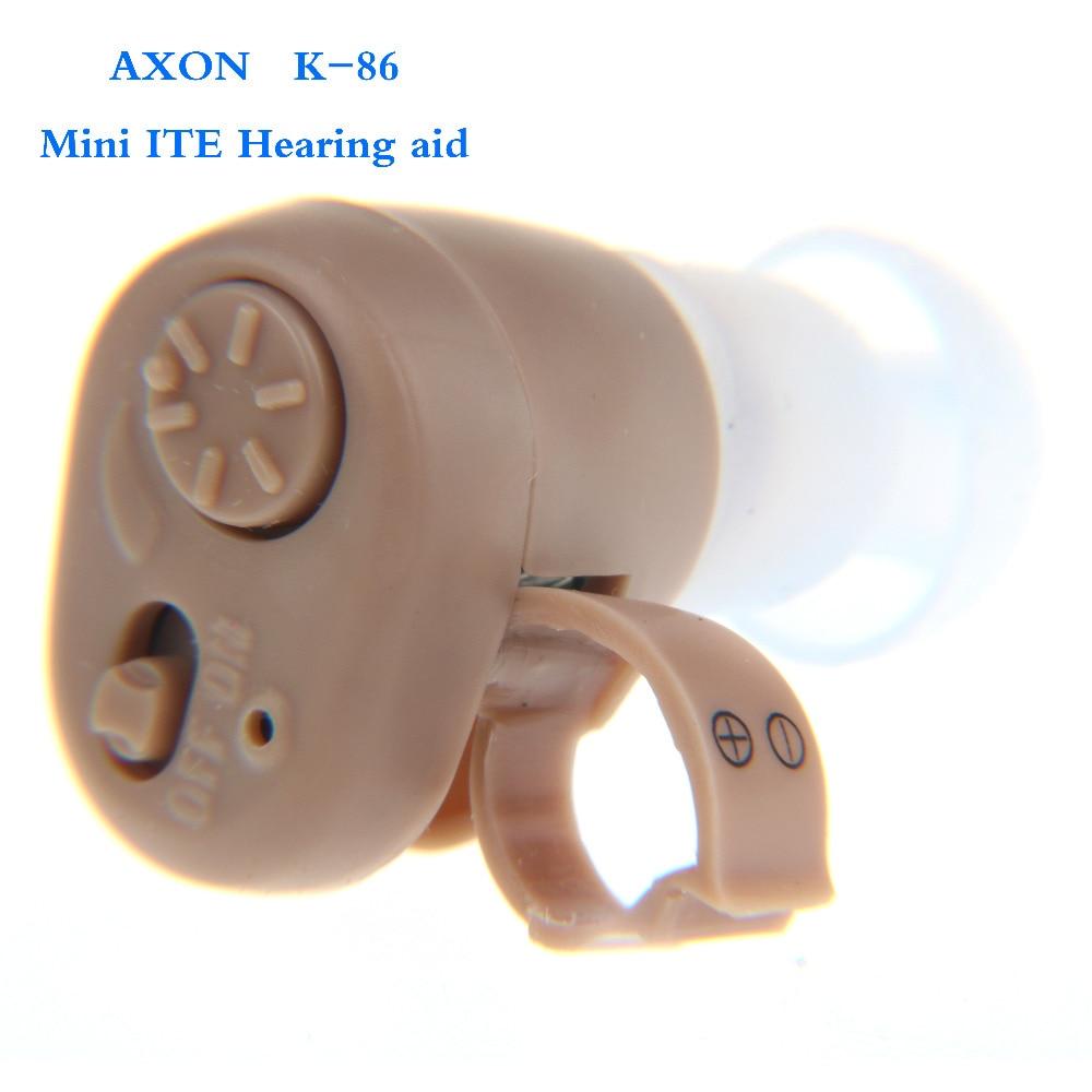 Горещи продажби слухови апарати портативни малки мини в ухото невидими най-добрият звуков усилвател регулируем тон цифров AXON k86
