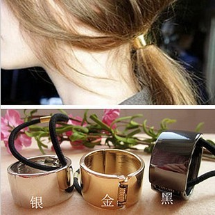 Korean temperament wild metal the texture of the cylinder ring hair band Free shipping hair jewelry crystal swinky hair clip