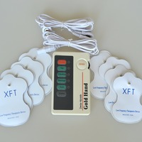 XFT 2 Channels TENS Electrical Stimulator Therapy Massager With 2 Pairs Electrode Pads Free Shipping