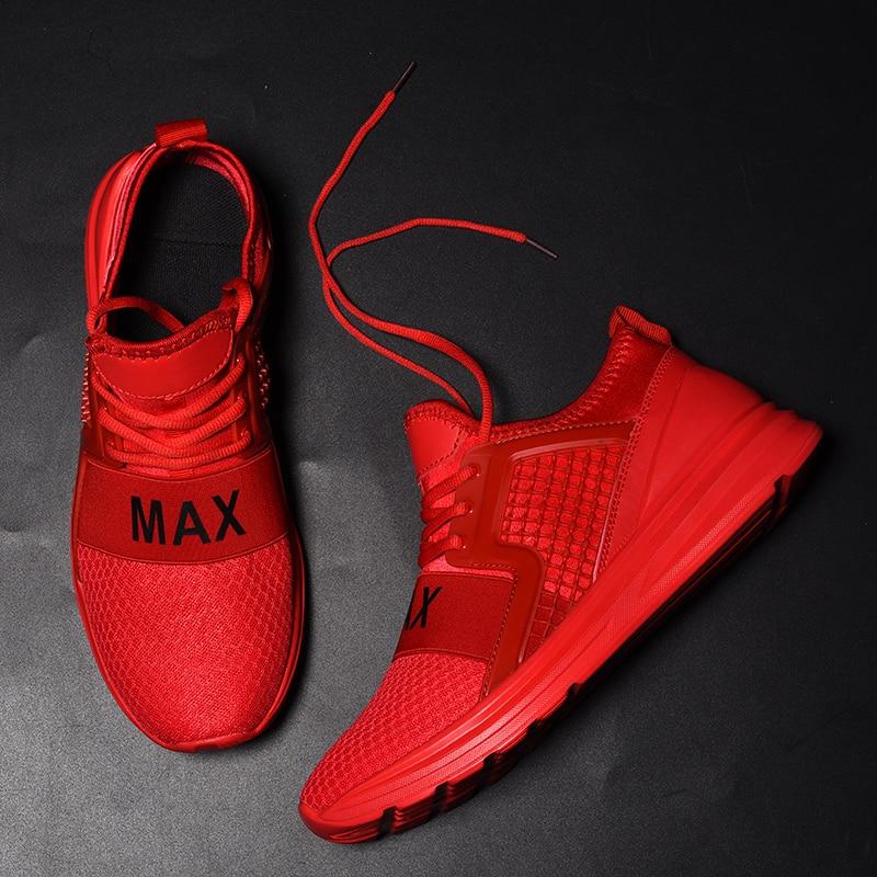 Best-seller des chaussures de loisir à la mode pour hommes de haute qualité Max confortable homme marque chaussures pour hommes respirant vert rouge noir chaussures