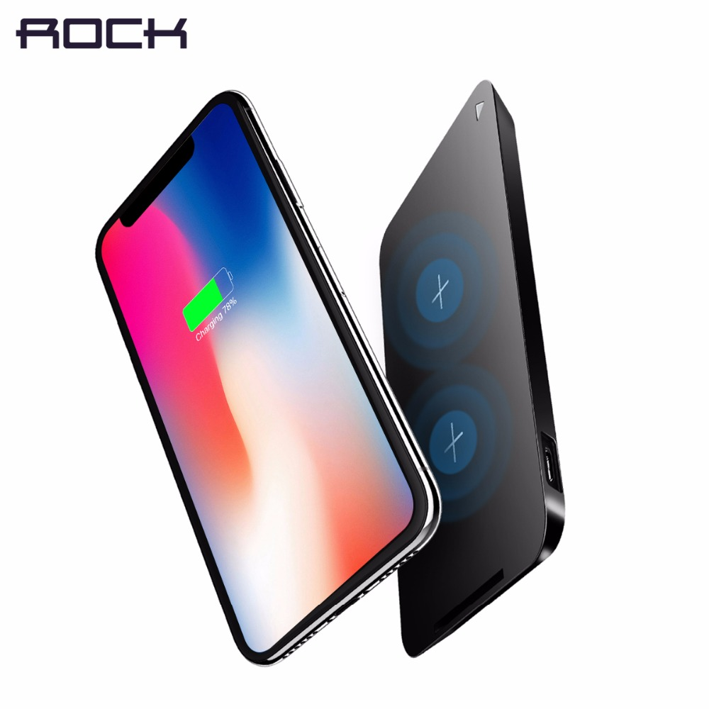 10W Fast Charging Wireless Charger for Samsung , ROCK Qi Wireless Charger for iPhone X 8 plus, fast wireless charging stand pad