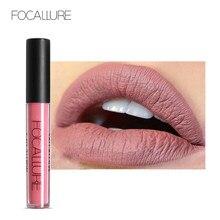 FOCALLURE-rouge à lèvres mat, Pigment brillant, étanche, longue durée, violet foncé, noir, rouge velours, liquide mat