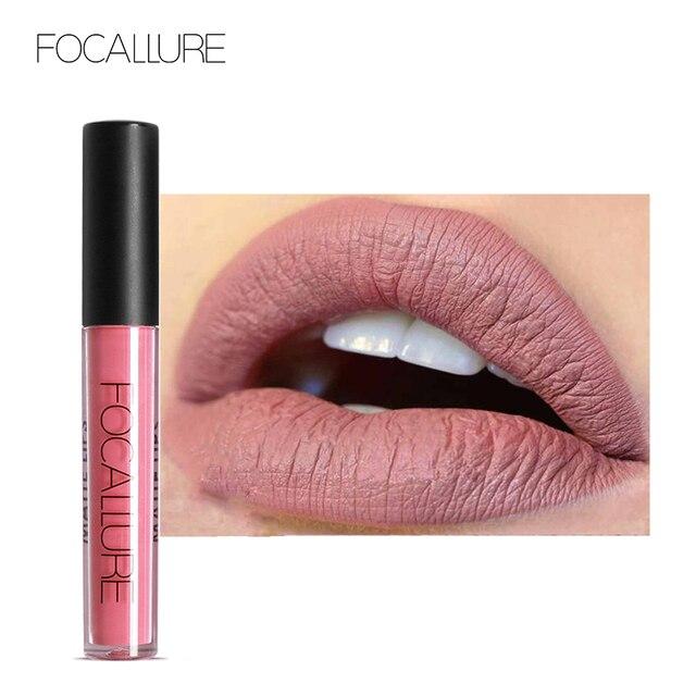 FOCALLURE Waterproof Long-lasting Lip Gloss Pigment Dark Purple Black Red Velvet Matte Liquid Lipstick