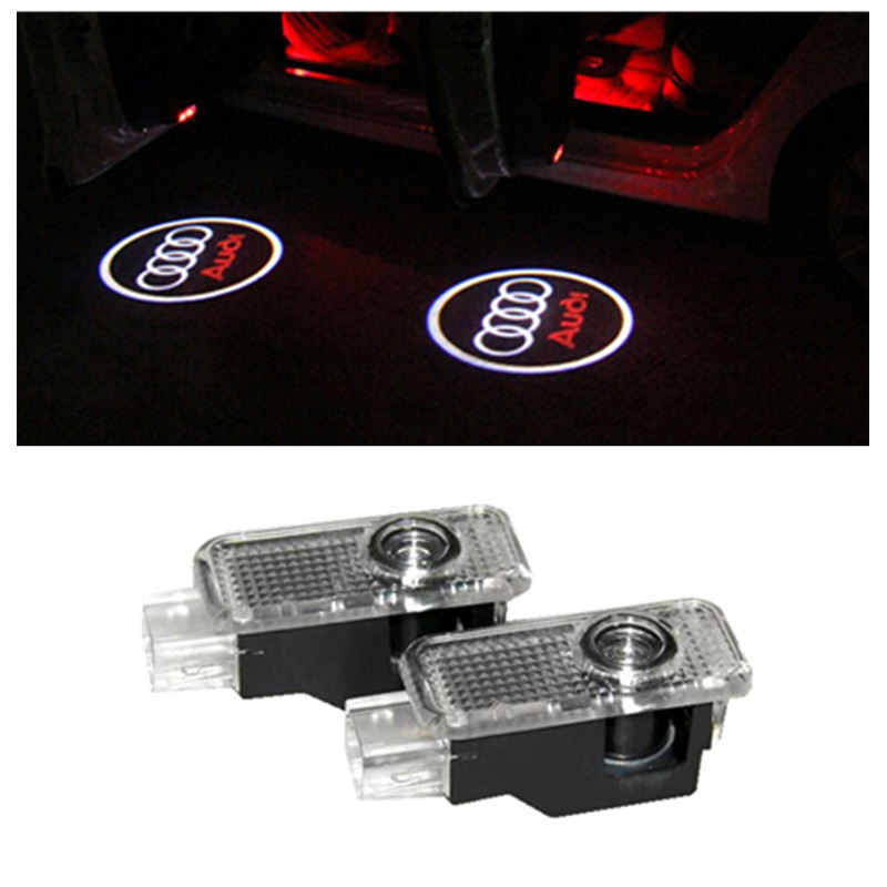 2 x LED Car Door Welcome Light Laser Car Door Shadow led Projector Logo For AUDI A3 A4 B6 B7 A5 A6 C7 C5 A7 A8 R8 Q5 Q7 TT