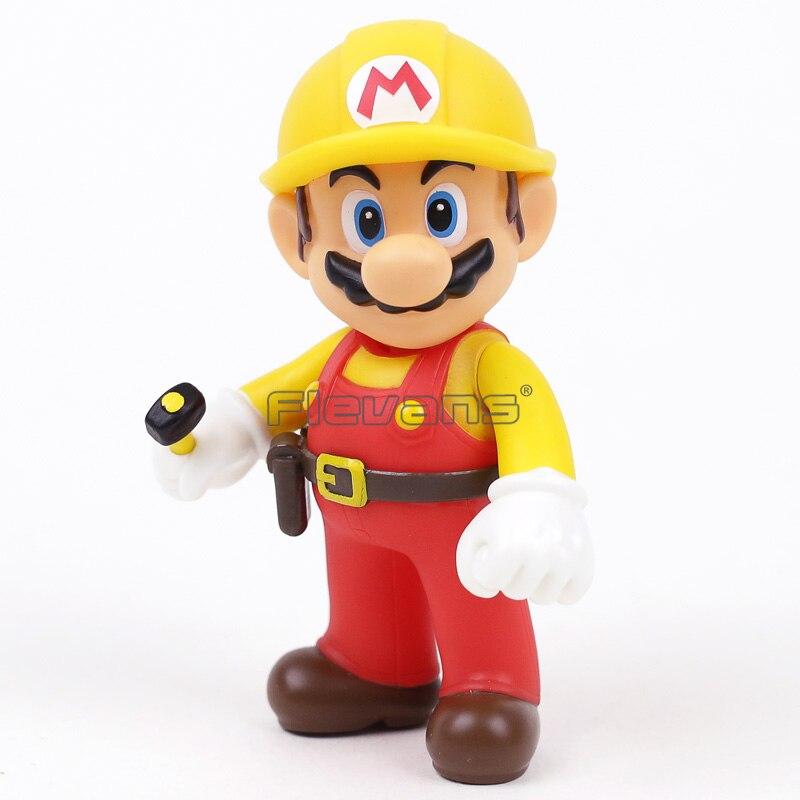 Super Mario Bros The Repairman Mario Vinyl Action Figure Collectible Model Toy 10pcs lot