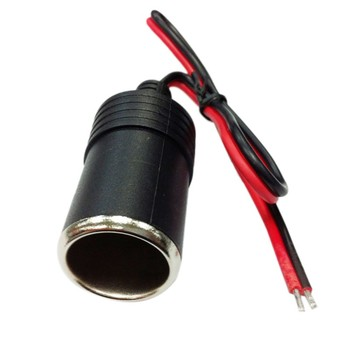 Female Car Cigar Cigarette Lighter Socket Plug Connector Adapter Car Charger Car Cigarette Lighter Socket Splitter 12/24V DC