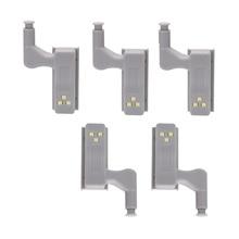 2/5pcs Inner Cabinet Hinge Led Sensor Light For Kitchen Bedroom Cabinet Cupboard Closet Wardrobe LED Led Armario Night Lights