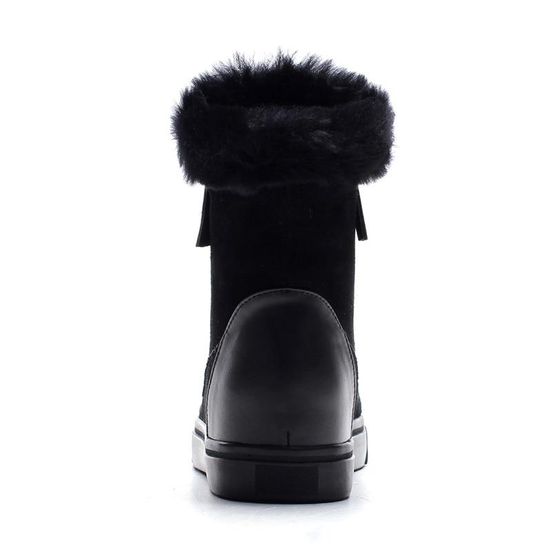 Flache Kuh 2019 Black Wildleder Lammfell Neue Pelz Frau Frauen Wolle Schnee Weibliche Stiefel Winter Warme Schuhe Stiefeletten Mischung pink n7zBzR6qg