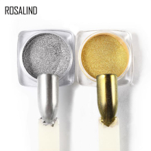 ROSALIND 2g Nail Glitter Pigment Powder Golden Silver Chrome Magic Mirror Art Rub on Nails Manicure
