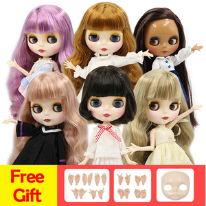 factory blyth doll 1/6 bjd normal/joint body 30cm, hands AB and faceplate as gifts(China)