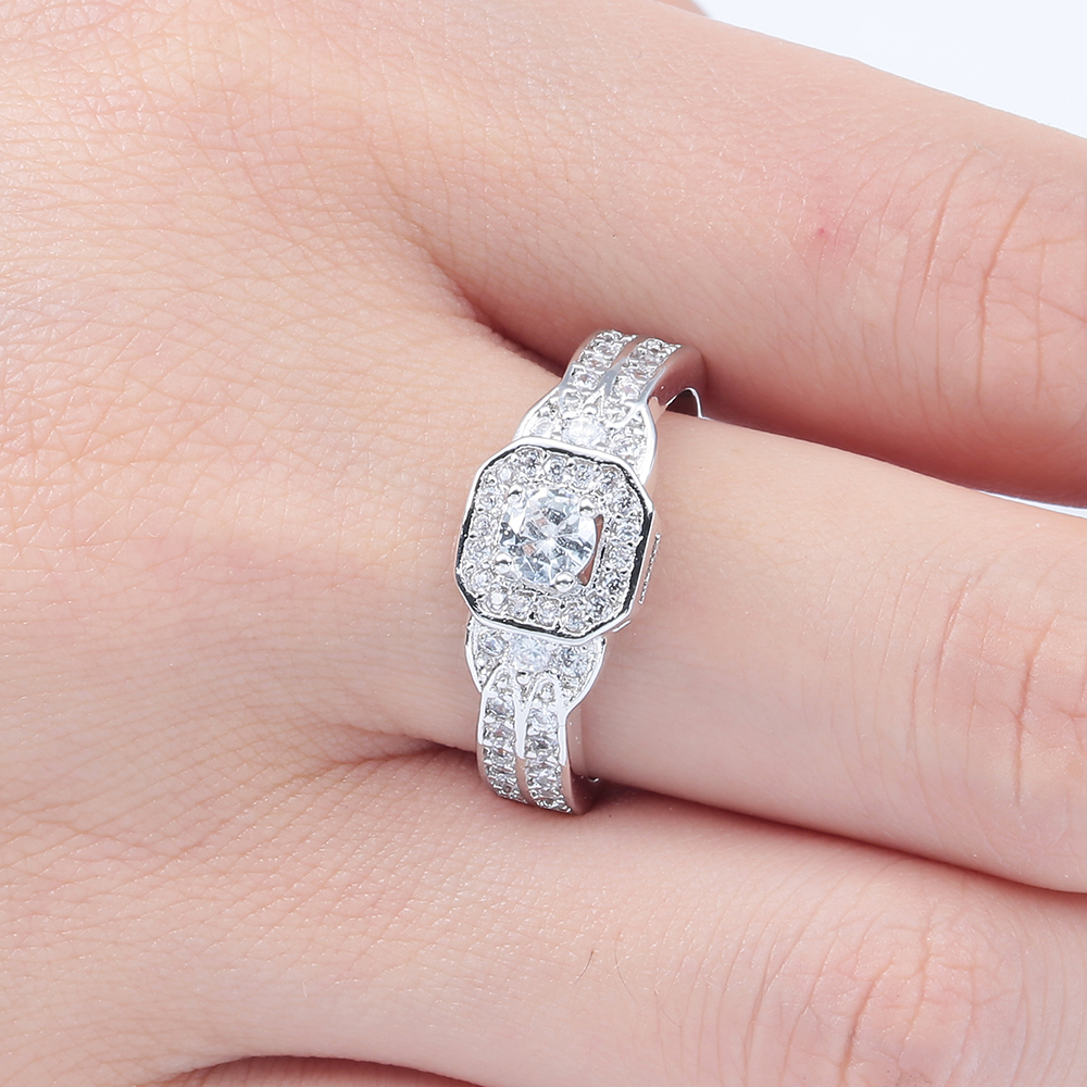 fashion Jupiter Rings silver plated wholesale lovely micro paved cz ...