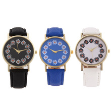 Retro Flower Dial Watches Women PU Leather Belt Quartz Student Couple Lovers Wrist Watches Barcelet reloj mujer montre femme